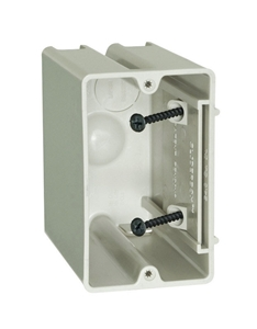 Picture of Allied Moulded  3-3/4 In. Square  Plastic  1 Gang Outlet Box  Beige/Tan