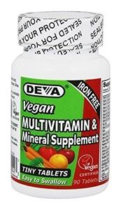 Picture of Deva Vegan Tiny Tabss Multivitamin (Iron-Free) 90 Tabs