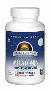 Picture of Source Naturals Melatonin 1 Mg 300 Orange Lozenge